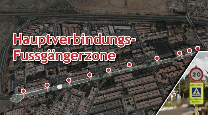 Die 20 km/h Hauptverbindungs-Fussgängerzone